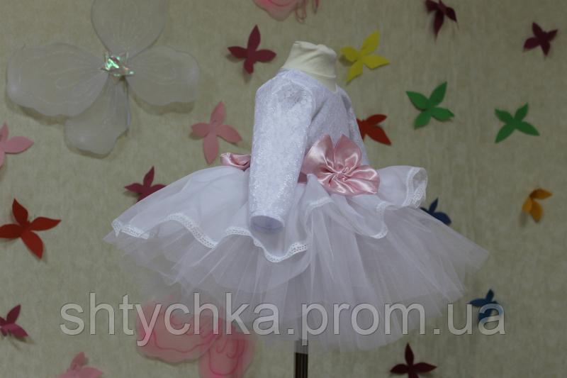 """Нарядное платье """"Мармеладка""""  с рукавами"""