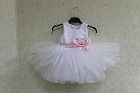 """Нарядное платье на девочку """"Балеринка"""" с розовым поясом и бантиком"""
