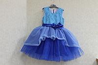 """Нарядное платье на девочку """"Голубо - синее омбре"""""""