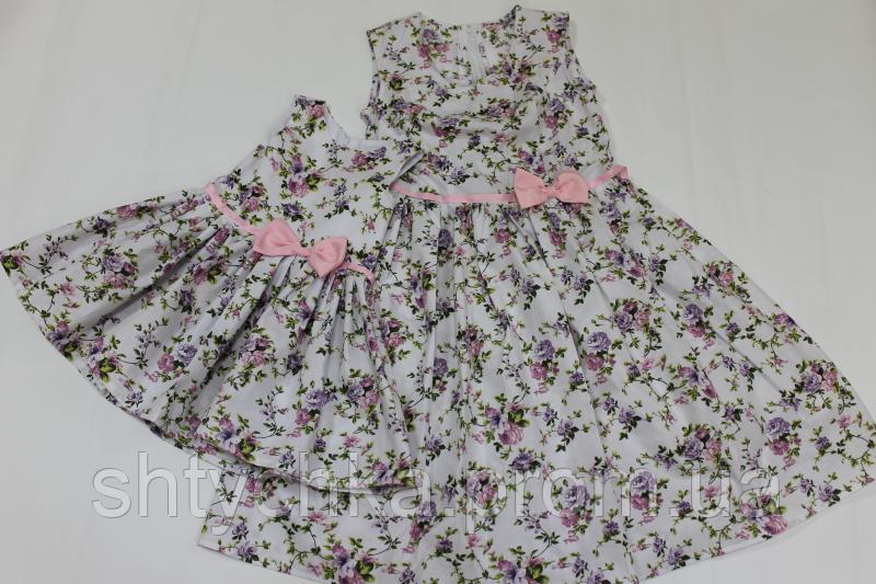 """Повседневно - Нарядные платья на маму и доченьку в стиле """"Family Look"""" цветочное настроение"""