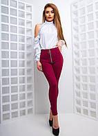 Модный костюм с замшевыми легинсами в расцветках АМЗ-1803.149