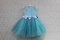 """Нарядное платье на девочку """"Мятная сеточка"""""""