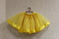 Юбка пачка желтая с лентой