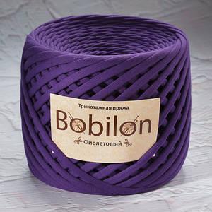 Трикотажная пряжа Bobilon Medium (7-9мм). Фиолетовый
