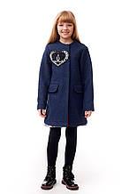 Оригинальное кашемировое пальто для девочки демисезонное р. 122-140