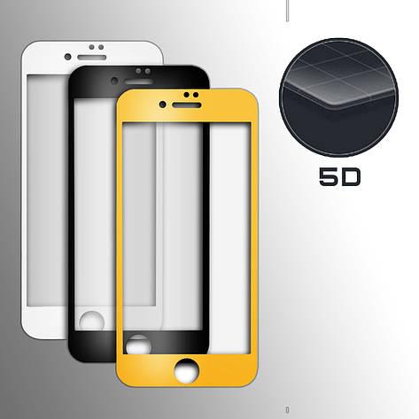 Стекло 5D Strong for iPhone 6+ white тех. пак., фото 2