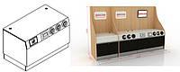 Стол под кофемашину ( Модуль для кофемашины) Искуственный Камень, в комплекте с диспенсерами