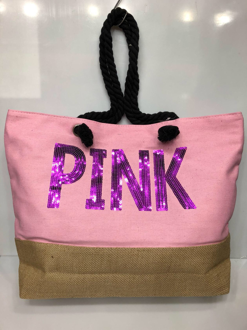 Пляжная сумка на канатах Pink