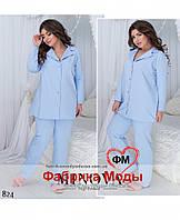 Пижамный женский комплект большого размера Производство Фабрика Украина Прямые поставки интернет-магазин 50-60