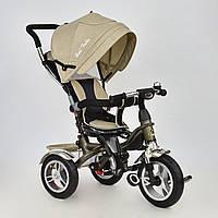 Велосипед трехколесный с поворотным сиденьем Best Trike 5688 LEN (надувные колеса) бежевый
