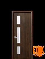 Межкомнатные двери Новый Стиль Герда с рисунком Р3 ПВХ (орех премиум)