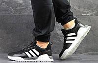 Adidas кроссовки мужские черные с белым Вьетнам реплика