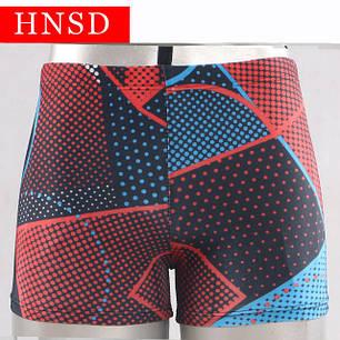 Плавки мужские купальные HNSD-5907 красный, фото 2