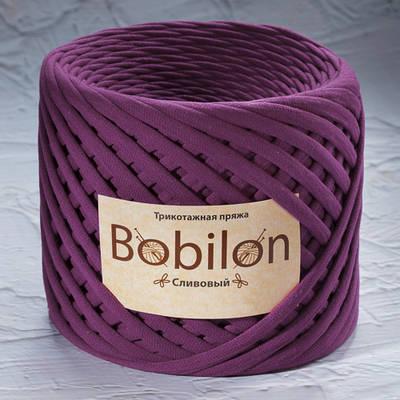 Трикотажная пряжа Bobilon Medium (7-9мм). Сливовый