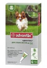 BAYER Advantix для собак вес до 4 кг 1пипетка 0,4мл