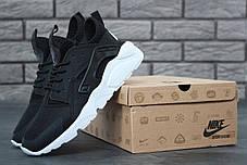 Кроссовки женские Nike Huarache Ultra черные топ реплика, фото 3