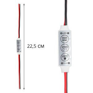 Диммер для светодиодной ленты 72Вт 6A-Механический. 3 кнопки, фото 2