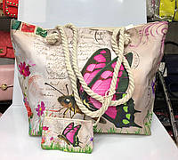 Пляжная сумка на канатах Бабочка