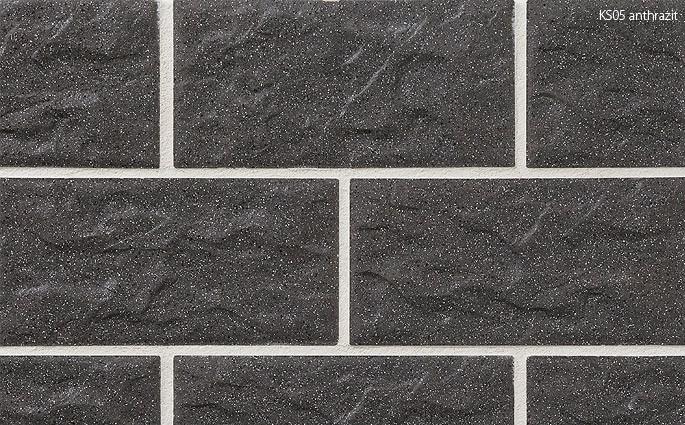 Клинкерная отделочная плитка Stroeher Kerabig-KS 05 antrazit, 302x148x12mm