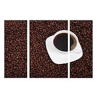 """Модульная картина на холсте """"Белая чашка кофе"""""""