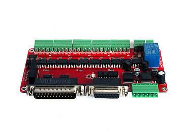 Интерфейсная плата с полной опторазвязкой порта LPT на 5 осей ЧПУ