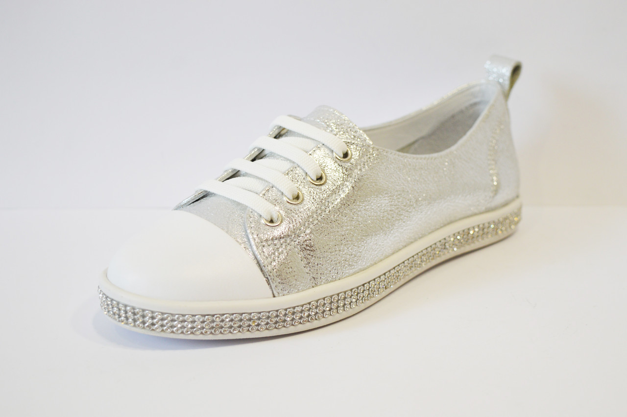 Кеды женские серебристые Tucino 2501 - КРЕЩАТИК - интернет магазин обуви в  Александрии 144128a736a