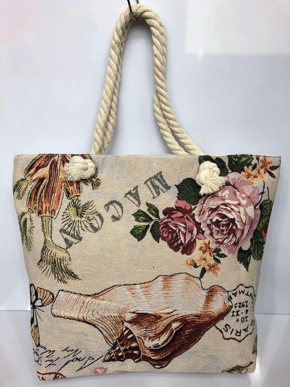 Пляжная сумка на канатах Ракушка