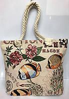 Пляжная сумка на канатах Рыбки