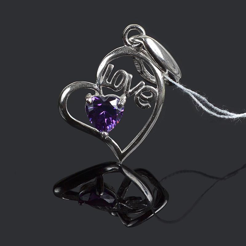 Серебряная подвеска (кулон) Love Любовь