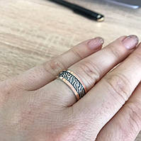 Кольцо  с золотыми накладками и камнями