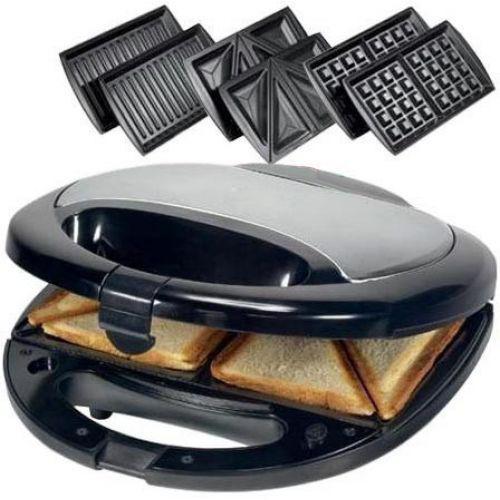 🔥✅ Сендвичница ростер бутербродница тостер 3 в 1 Domotec MS-0770