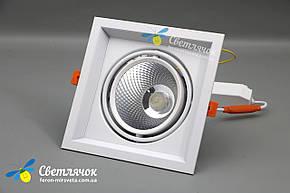 Светильник карданный светодиодный поворотный 20w Feron AL201 COB 4000К, фото 2
