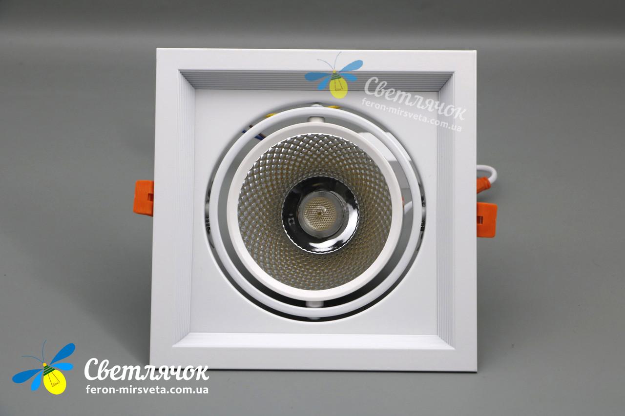 Светильник карданный светодиодный поворотный 20w Feron AL201 COB 4000К