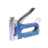 Степлер с регулятором для скоб 4-14мм Sigma (синий) (2821011)