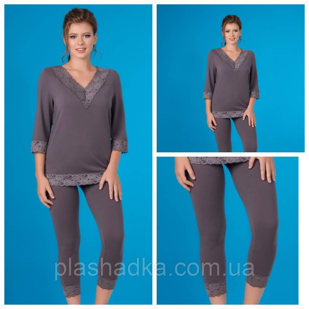 Пижамы для сна женская, графит