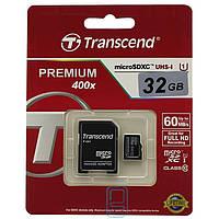Карта памяти micro SD Transcend 32GB class 10 + SD adapter