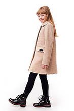 Теплое кашемировое пальто для девочки демисезонное размеры 122-140