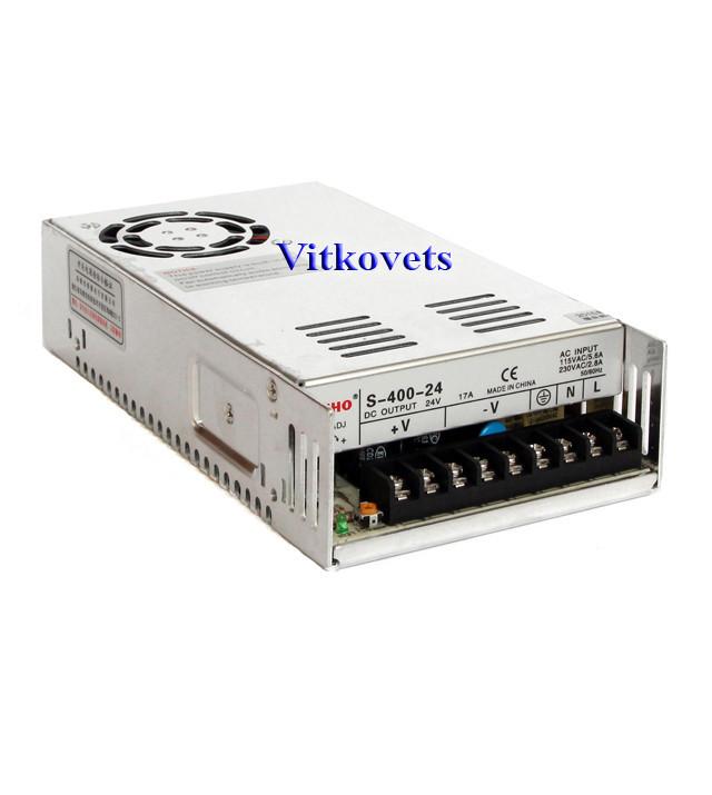 Импульсный блок питания S-400-24, 24V, 16.7А, 400W