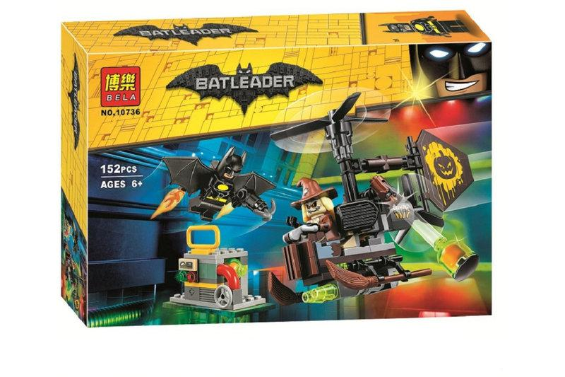 """Конструктор Bela 10736 Batman """"Схватка с Пугалом"""" 152 деталей."""