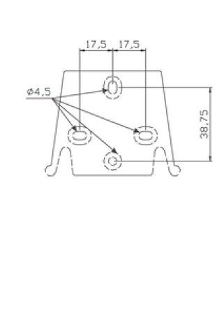 габаритные размеры дозирующего насоса AquaViva 5 л/ч (AML200NPE0009)