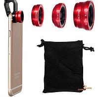 Набор линз 4 в 1 для камеры смартфона Macro