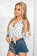 """Стильная женская рубашка на пуговицах """"POLO"""" с завязками (2 цвета), фото 2"""
