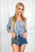 """Стильная женская рубашка на пуговицах """"POLO"""" с завязками (2 цвета), фото 3"""