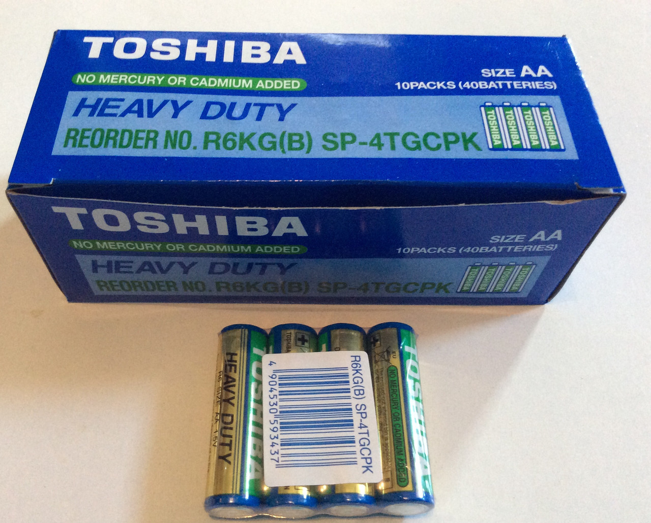 Батарейки Toshiba AA R6 1,5V