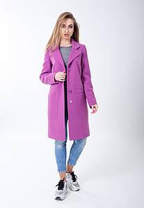 Демисезонное пальто прямого кроя на пуговицах