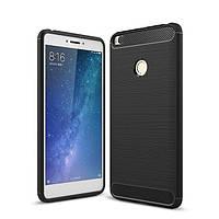 Чехол Carbon для Xiaomi Mi Max бампер Black