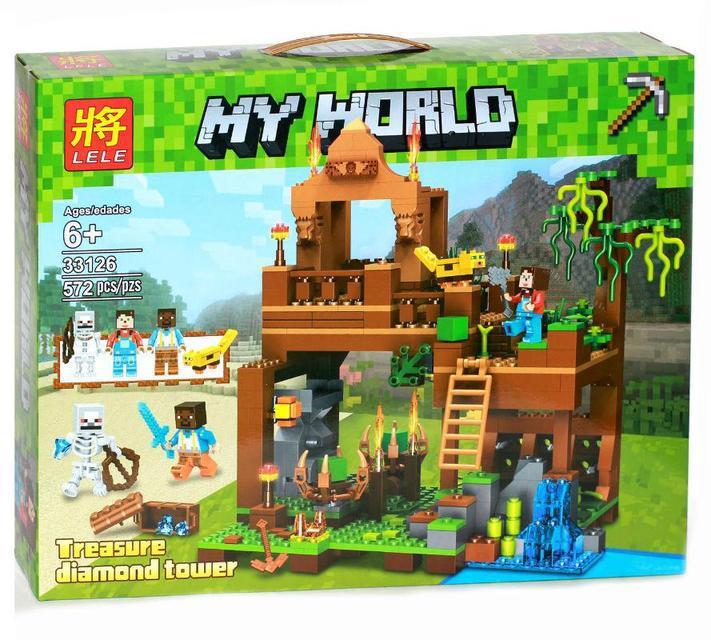 "Конструктор Lele 33126 Minecraft ""Башня с алмазами"" 572 детали. ( Аналог Lego Minecraft )"
