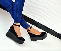 Туфли женские на платформе кожаные/замшевые цвета разные TOPs0003