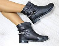 Женские зимние кожаные ботинки  40