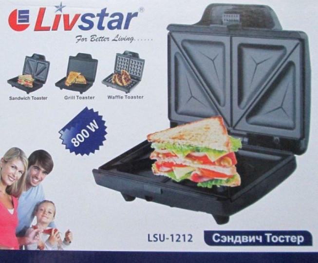 Бутербродница сэндвич тостер Livstar 1212